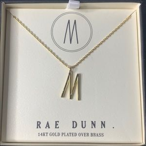 """Rae Dunn """"M"""" initial necklace"""